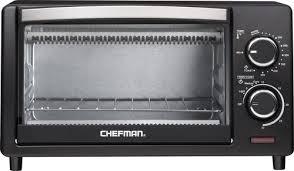 Rating Toaster Ovens Chefman 4 Slice Toaster Oven Black Rj25 4 Best Buy