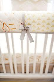 gold and gray tribal crib rail guard set gold crib bedding