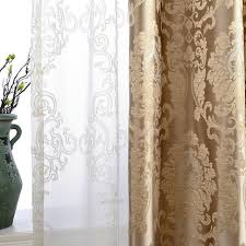 Demask Curtains European Damask Curtains For Living Room Luxury Jacquard Blind