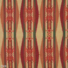 and burgundy southwestern country abstract tapestry upholstery fabric