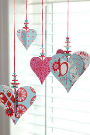 diy valentines decoration hearts and button decoration