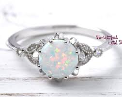 Opal Wedding Ring Sets by Opal Ring Etsy