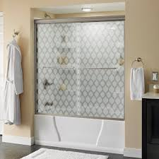 delta 60 in sliding shower door glass panels in clear 1 pair