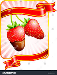 s day strawberries strawberries valentines day background stock vector 42063037