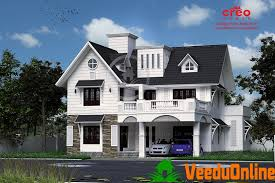 2770 sq ft double floor modern traditional home design