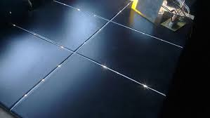 Plastic Bathroom Flooring by See How This Guy Transformed His Bathroom Floor Into A Starry