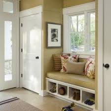Built In Bench Mudroom Mud Room Area By Back Door Bigger Window Bench Seat Pull Out