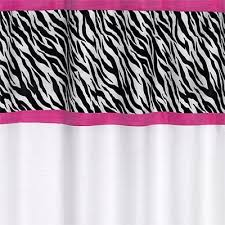 Pink Black And White Shower Curtain Zebra Shower Curtain White Black U0026 Pink