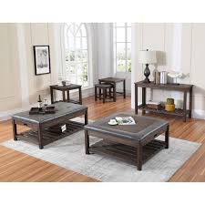 wood haven sofa table in dark brown wood living room