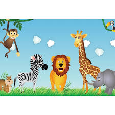 livingroom cartoon aliexpress com buy cartoon cute art animals lion zebra 3d