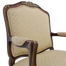 Antique Upholstered Armchairs 85 Off Antique Upholstered Beige Classic Armchair Chairs