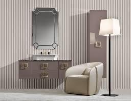 Modular Bathroom Vanity Bathroom Cool Eye Catching Rectangular Wall Mirror Wooden