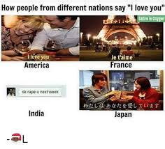 I Love L Meme - how people from different nations say i love you satire is 0xyeen