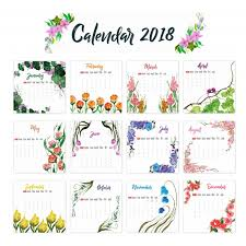 Kalender 2018 Free 2018 Calendar Floral Design Vector Free