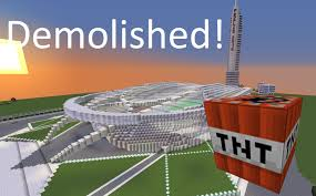 Rio Olympic Venues Now Minecraft Olympic Stadium 40 000 Tnt Demolished Youtube