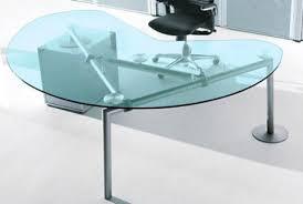 bureau de direction en verre isotta bureau direction verre transparent caisson à droite