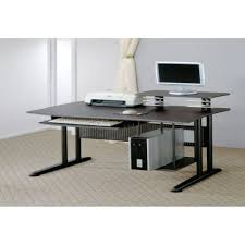 modern black computer desk amazing home office with modern black computer desk design and