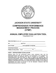 job performance evaluation templates fillable u0026 printable