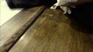 Repairing Scratches In Laminate Flooring How To Repair Hardwood Floor Scratches With Stain And A Rag Youtube