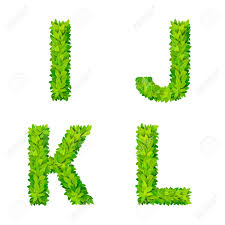 abc grass leaves letter number elements modern nature placard