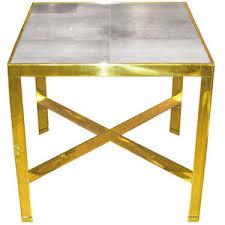 X Base Side Table Brass