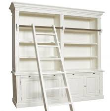 library bookshelf bookcase with ladder decorating pinterest