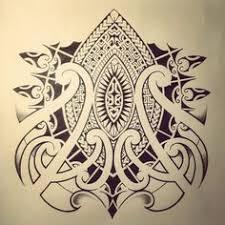 Polynesian Flower Tattoo - chicktattoo polynesian flower tattoo flash design tattoos