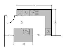cuisine dimension ilot central cuisine dimension plan 267225 plans de avec un 6