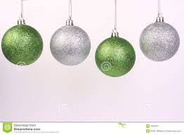 green and silver ornaments 2 stock images image 7036204