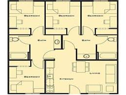 Four Bedroom by 4 Bedroom House Plans Latest Gallery Photo