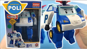 toy unboxing robocar poli toy deluxe transformer blue robot