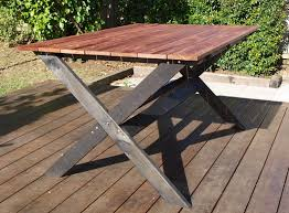 Building Outdoor Furniture What Wood To Use by Diy Outside Cross Base Table U2014 Pearson Projects