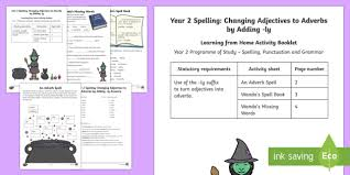 year 2 spelling changing adjectives to adverbs by adding ly
