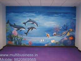 wall theme preschool or play school classroom wall theme painting mumbai in