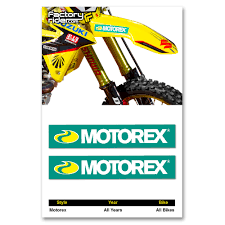 motocross bike security motorex fender arches stickers mx dirt bike graphics fit all