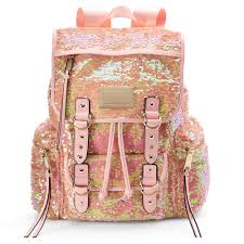 couture pink sequin backpack