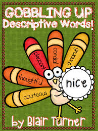 thanksgiving activities for 3rd grade free gobbling up descriptive words fun thanksgiving activity