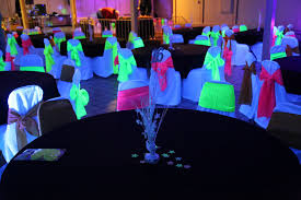 glow in the party decorations black light rental