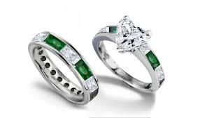 green wedding rings emerald engagement rings wedding rings