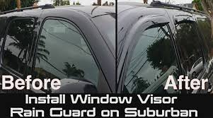 Exterior Door Rain Deflector by How To Install Window Visor Rain Guard On Suburban Chevrolet