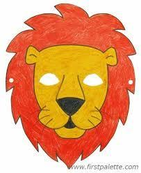 printable lion mask safari project animals in the unit