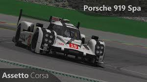 porsche 919 top view assetto corsa porsche 919 hybrid darche px1 2015 onboard spa