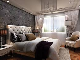 pleasant bedroom bay window ideas for seating and shelves elegant modern bedroom bay window design with tufted headboard and floral pattern wall also drum shape