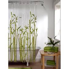 Clear Vinyl Shower Curtains Designs Maytex Bamboo Photoreal Peva Shower Curtain 70 X 72 Vinyl