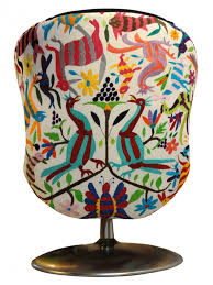 Suzani Fabric Chair Upholstery With Mexican Otomi Embroidered Tenangos Get In My