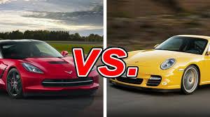 porsche 911 vs corvette chevrolet corvette vs porsche 911 carsdirect