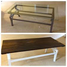 Plans For Building A Wood Coffee Table by Best 25 Glass Table Redo Ideas On Pinterest Vintage Sewing