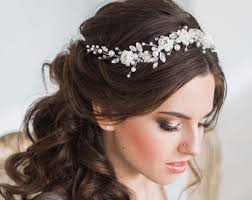 bridal tiara wedding hair wreaths tiaras etsy in