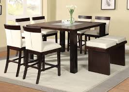 High Dining Room Sets Acme Keelin 7pc Counter Height Dining Room Set With Insert Table