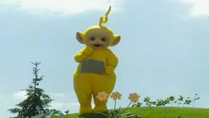 total frat move campus thief dressed teletubby thankfully